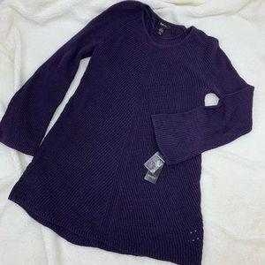 Style & Co XL Sweater Purple Swing Bottom Pullover